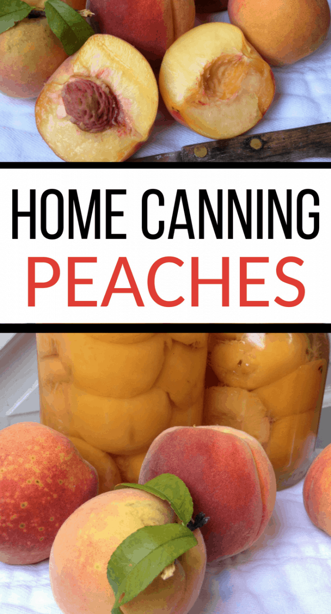 home canning peaches