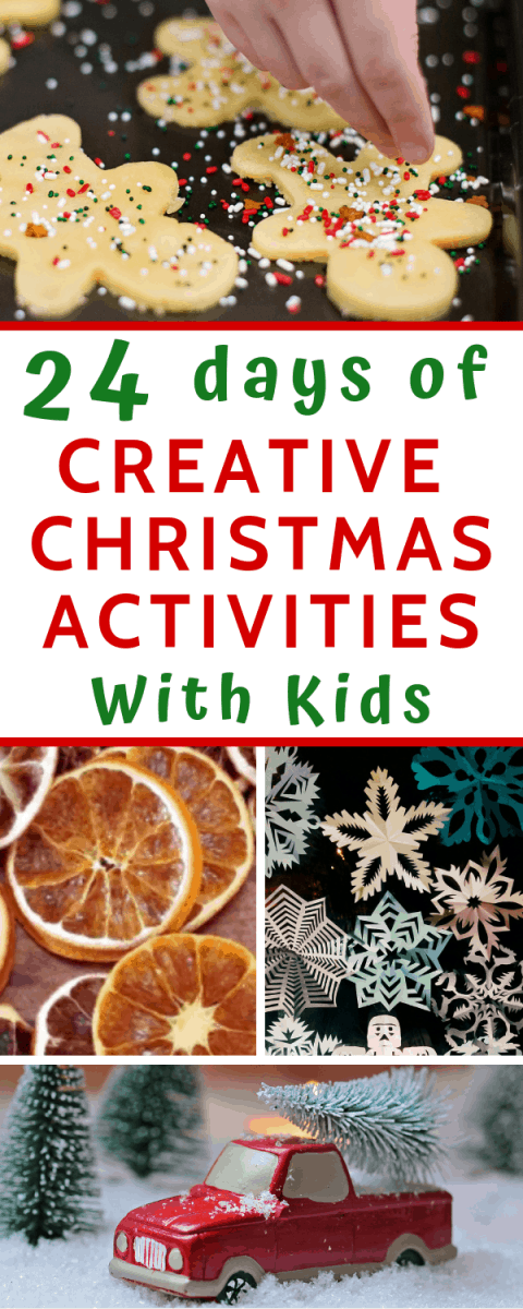 24 days of crafty Christmas countdown ideas #christmascrafts #Christmascountdown