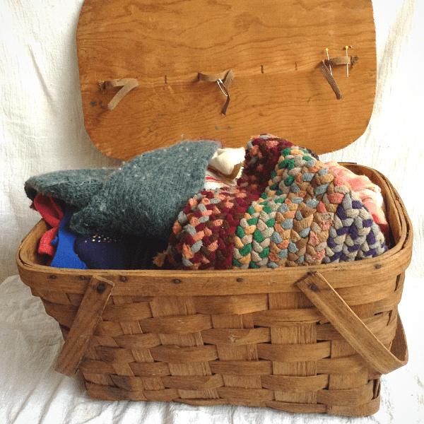 a functional mending basket