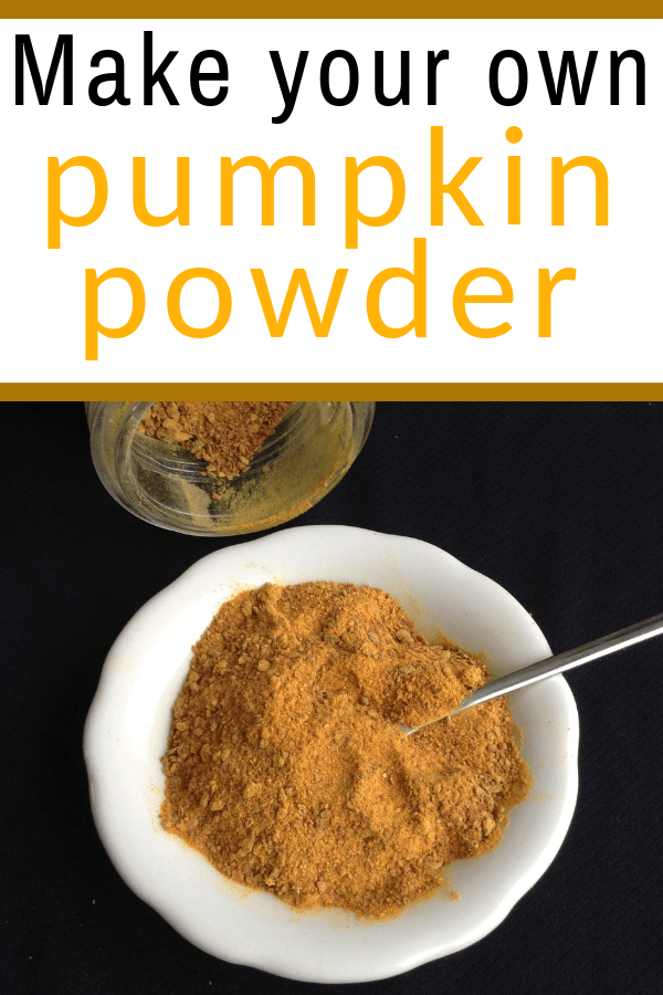 make your own pumpkin powder