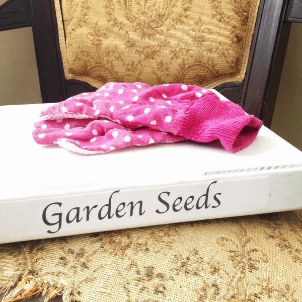 storing garden seeds in a 3 ring binder