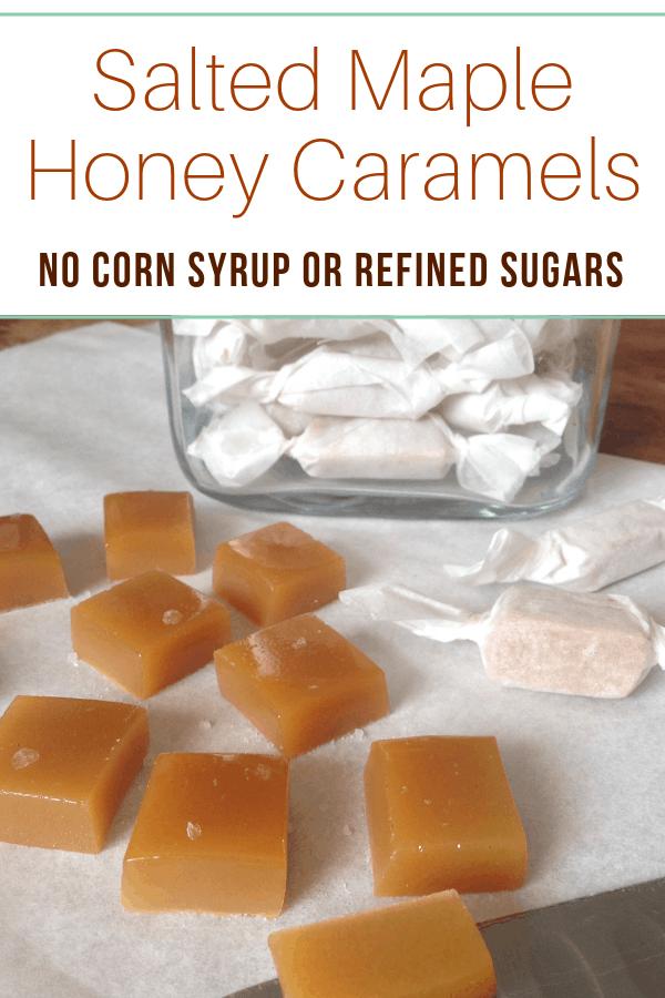 salted maple honey caramels recipe