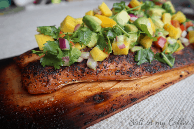 grilled salmon with mango lime salsa recipe