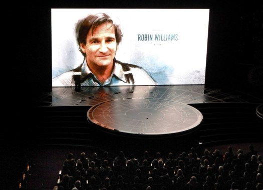 "Actor Robin Williams is honored during the ""In Memoriam"" segment of the 87th Academy Awards in Hollywood"