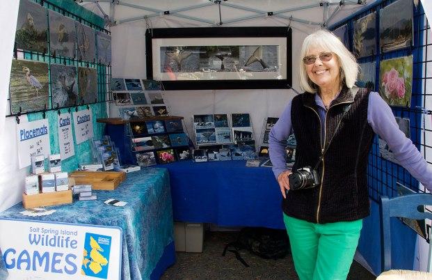 Tamar Griggs at the Salt Spring Saturday Market