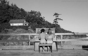 Fulford, Salt Spring Island, nude duet