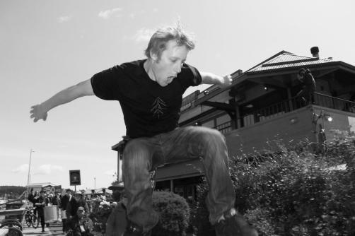 Skater on Salt Spring Island, BC