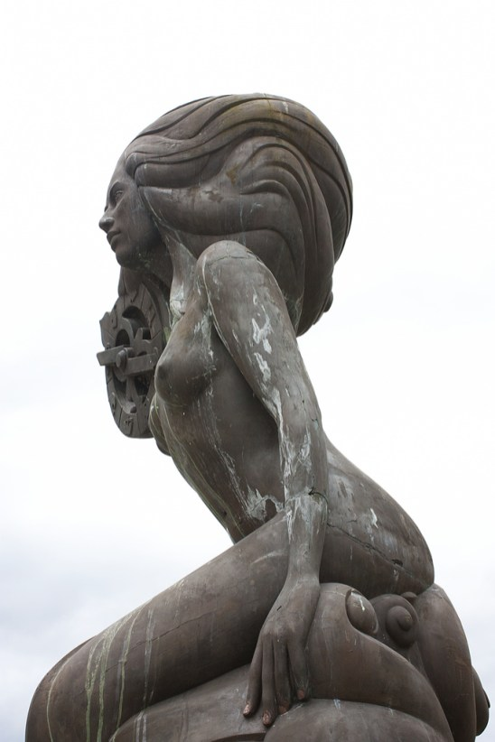 Mermaid sculpture, Salt Spring Island, BC