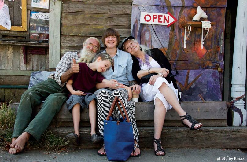 Rudy and Family on Salt Spring Island, BC