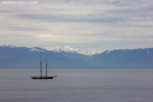 Cascade Mountains as seen from Victoria, BC