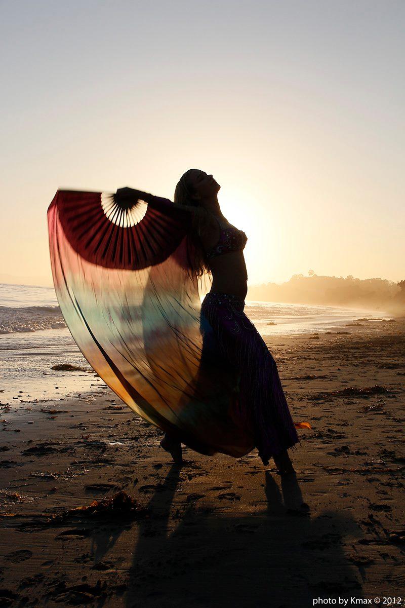 Belly Dancer on the Beach, Santa Barbara, CA