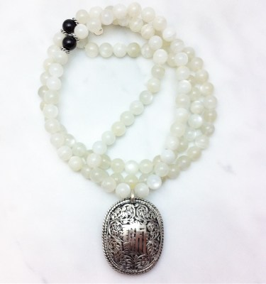 moonstone mala necklace