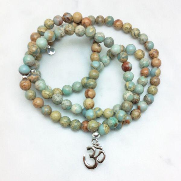 serpentine mala necklace