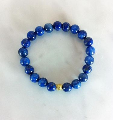 blue kyanite mala beads