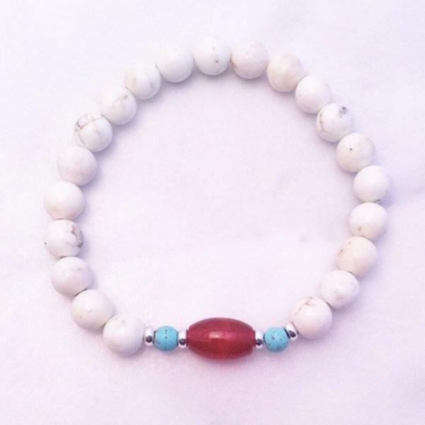 magnesite mala bracelet