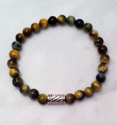 blue tiger eye mala bracelet