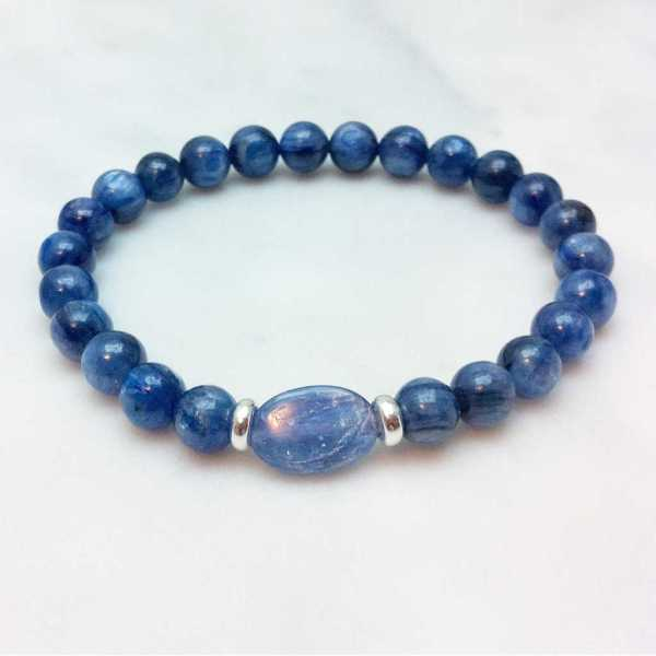 Blue Kyanite Mala Bracelet
