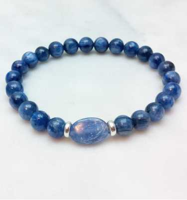 Blue Kyanite Mala Bracelet