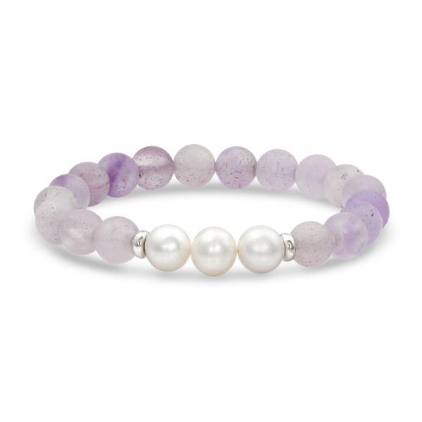 amethyst mala bracelet