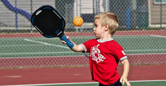 Youth playing pickleball :: Salt Spring Island Pickleball Association