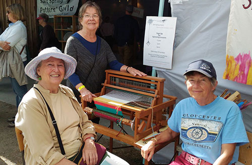 Salt Spring Weavers at the Fall Fair