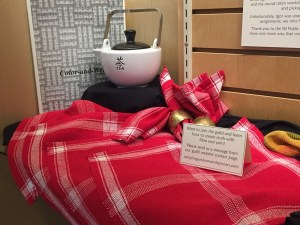 Colour and weave Napkins at Library Display November 2020