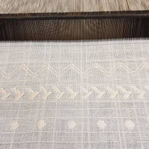 Balance weave on backstrap loom by Elise