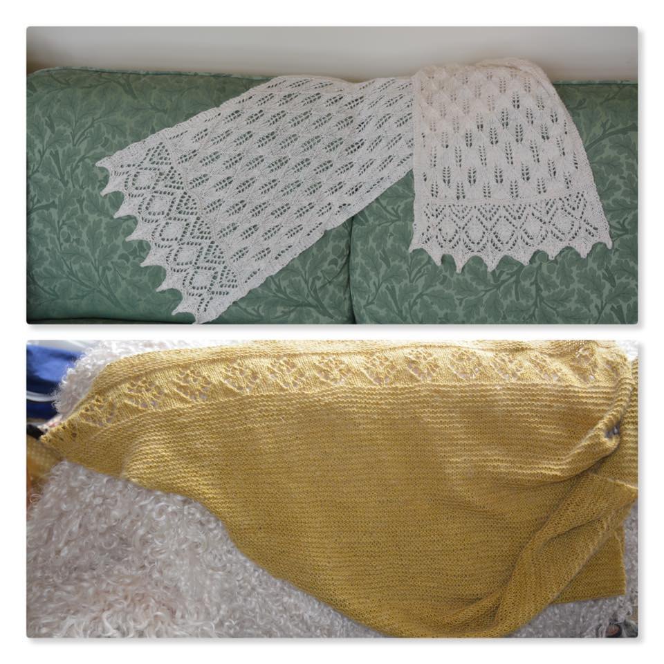 handspun and knitted shawls