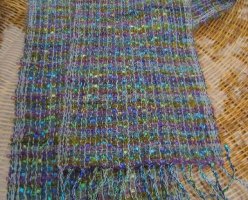 Blue Ladder and mohair scarf