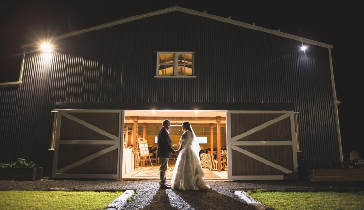 Bride Groom Night Wedding Photography Barn