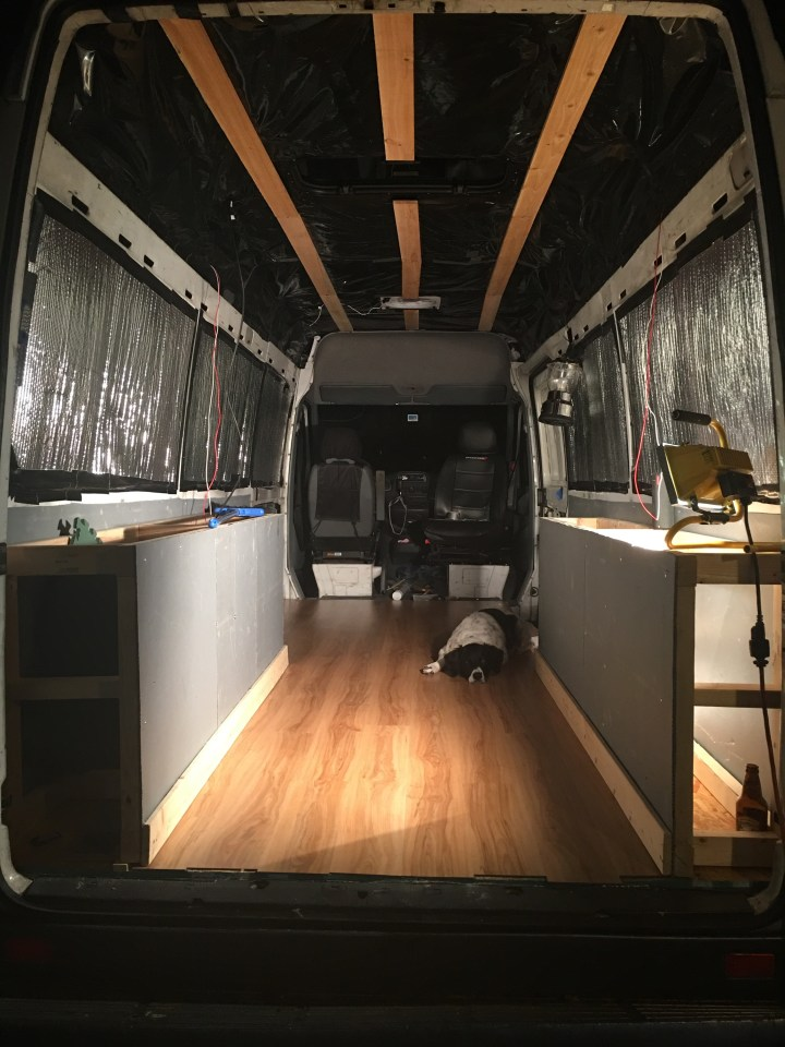 sprinter van conversion vinyl fooring