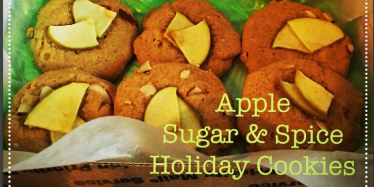 Apple sugar and spice holiday cookies