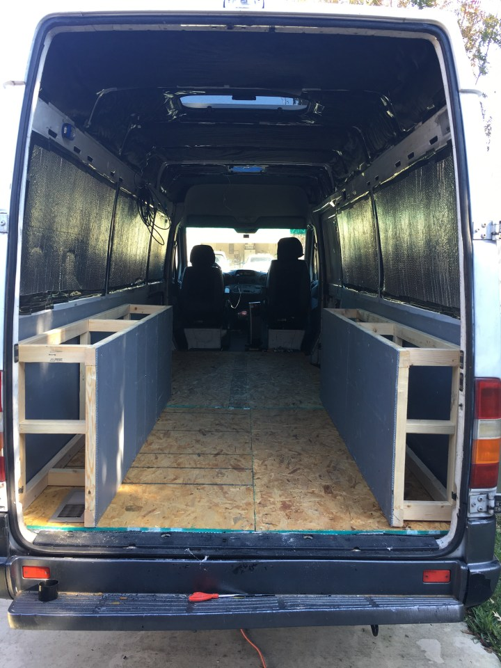 sprinter van conversion bed frame