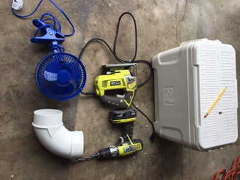 Materials and tools needed for diy travel Air Conditioner