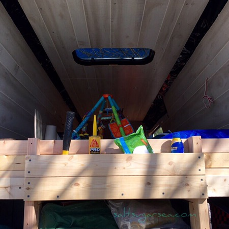 Van Conversion with optional diy wood shelf add on to headboard