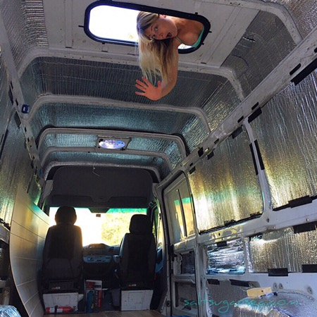 DIY Van Conversion sunroof