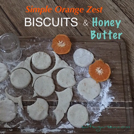 Simple biscuits with just 6 ingredients and orange zest