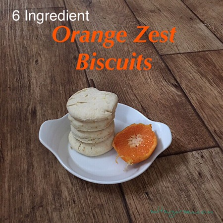 Fast baking orange zest biscuits