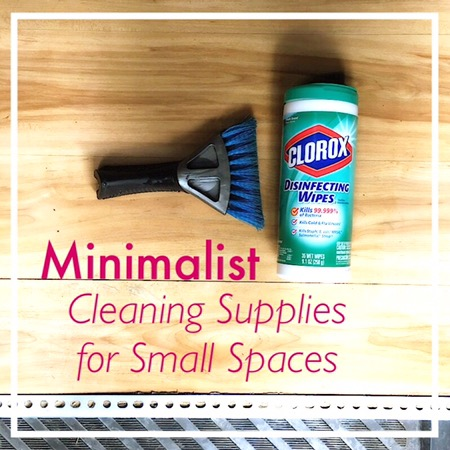 Minimalist travel Cleaning Supplies
