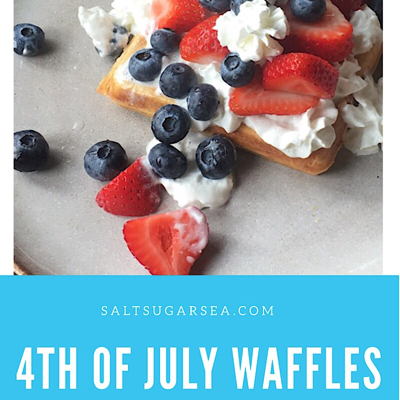 4th of July Belgian Vanilla Waffles