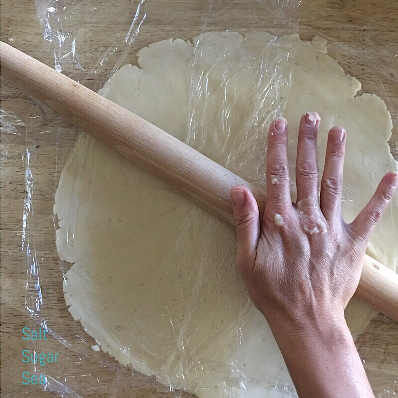 French rolling pin used to roll out vegan pie crust