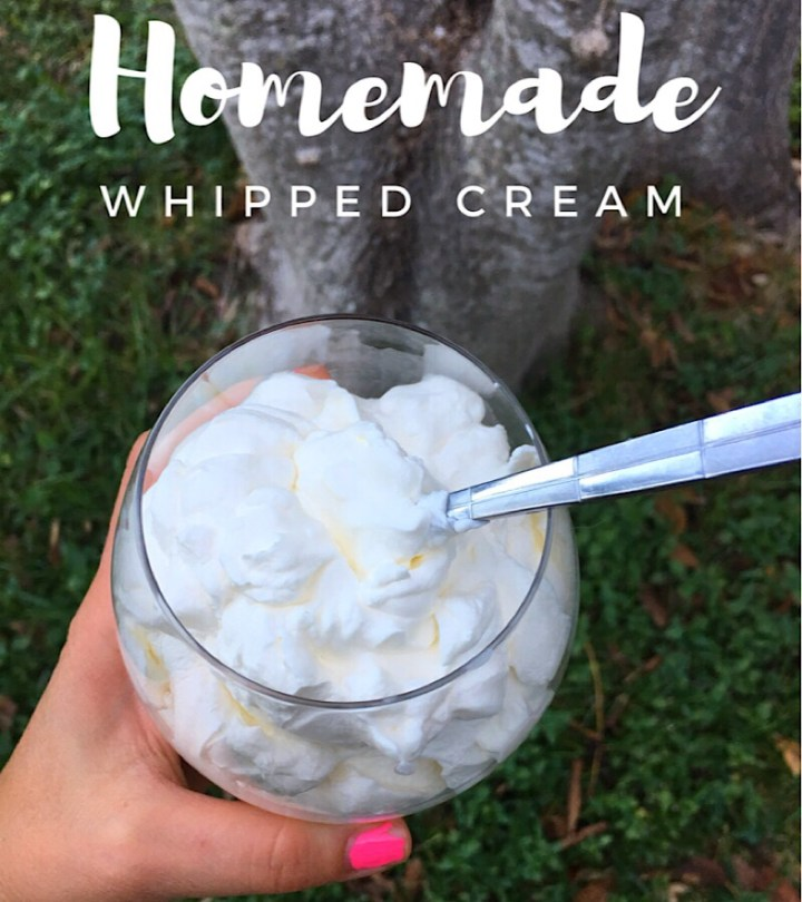 Homemade whipped cream for camping