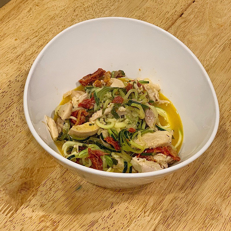 Zoodles and Sun-dried Tomato Cream GF DF