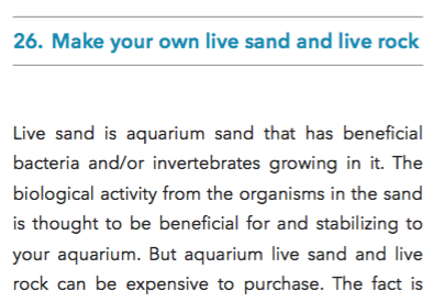 Excerpt from 107 Tips for the Marine Reef