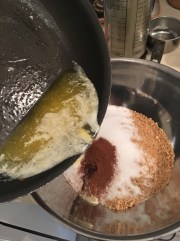 5) Add melted butter