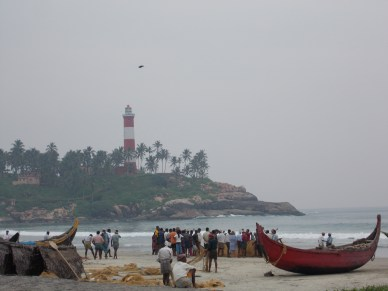 Fishermen on Kerala beach