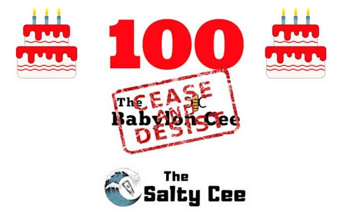 The Salty Cee hits 100th article: writers can't believe people still reading