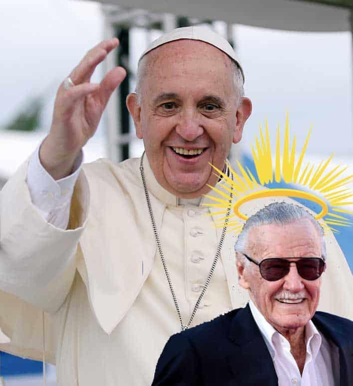 Pope Bestows Sainthood on Stan Lee