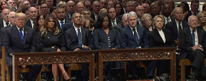 George HW Bush Funeral: Trump faces Apostles Creed Catch 22