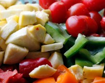 Fresh chopped veggies